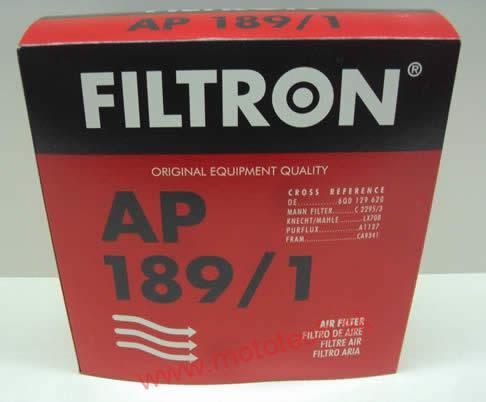FILTRON ap189//1 Filtro aria VW FOX POLO 9n SEAT IBIZA IV V Skoda Fabia 6q0129620