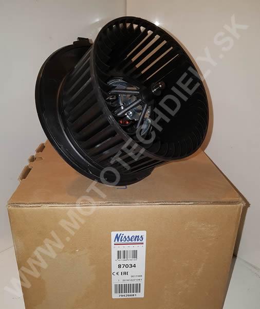 NISSENS 87034 Motorček kúrenia Octavia 2 manuál klima/bez klima - 1K1819015E